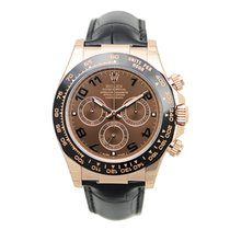 Rolex Rose Gold Dark Brown Automatic 116515LNBR