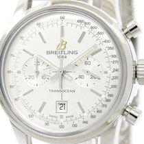 Breitling Polished Breitling Transocean Chronograph Steel...