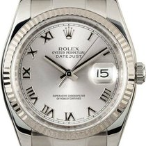 Rolex Datejust 36 Oyster Roman Silver Dial Automatic Men Watch...