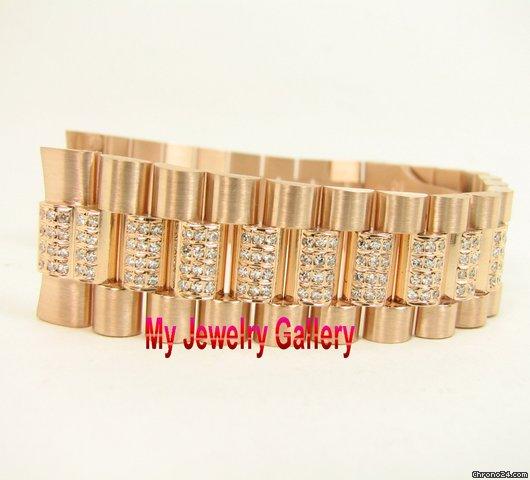 rolex aftermarket 18k rg bracelet band for mens