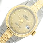 Rolex DateJust Two-Tone 18K Gold Stainless X Jubilee Champagne...