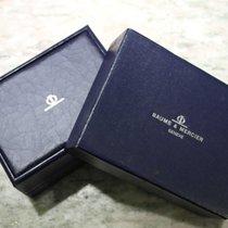 Baume & Mercier vintage watch box leather blu