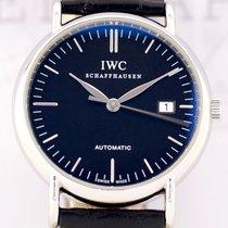 IWC Portofino Date Stahl black Dial Klassiker Top