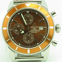 Breitling Superocean Heritage A13320 Chronograph Orange Dial...