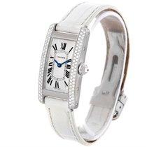 Cartier Tank Americaine 18k White Gold Diamond Watch Wb701851
