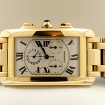 Cartier Tank Americaine Chrono Large Yellow Gold 18 krt (45 x...
