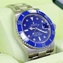 Rolex Submariner 116610 Steel Blue Ceramic Bezel Diamond Dial...