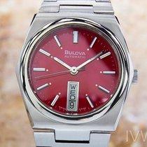 Bulova 3334002 Vintage Rare Swiss Stainless Steel Automatic...