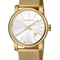Wenger Mens Urban Vintage Date Watch - White Dial - Gold-Tone...
