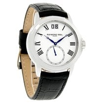 Raymond Weil Tradition Series Mens Black Leather Watch...