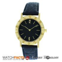 Bulgari Authentic Unisex Bulgari BB 33 GL 18K Yellow Gold Quartz