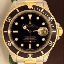 Rolex Submariner Two Tone watch, Black On Black
