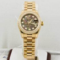Rolex Ladys Gold President 179138 Rolex Dial & Diamond Bezel