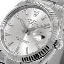 Rolex 115234 Date Model 34 Mm Mens Steel Oyster Silver Stick...