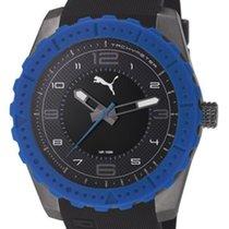 Puma PU103091004 sportliche Herrenuhr in blau schwarz 10 ATM