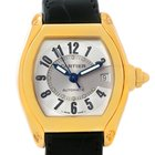 Cartier Roadster Mens 18k Yellow Gold Large W62005v2