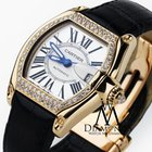 Cartier Roadster 18k Yellow Gold Silver Dial Diamond Watch 2524