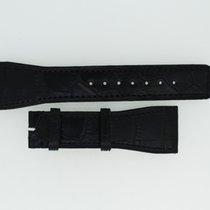 IWC Lederband / Alligator / Schwarz 24/18mm 115/75mm