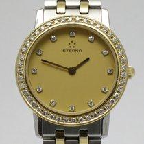 "Eterna ""Classic Diamonds Lady""  18K gold/steel"