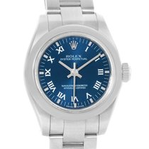 Rolex Nondate Ladies Blue Roman Dial Stainless Steel Watch 176200