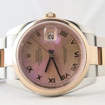 Rolex Datejus 18k Gold Steel MOP Rose Dial (Box&Papers)