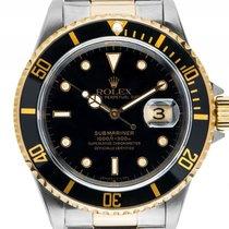 Rolex Submariner Date Stahl Gelbgold Automatik Armband Stahl...