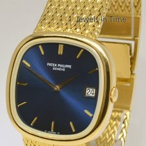 Patek Philippe Mens Jumbo Ellipse TV Screen 18k Gold Watch...