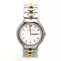 Tiffany & Co. Tesoro 18k Yellow Gold & Ss Mens's/u...
