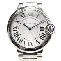 Cartier Ballon Bleu Stainless Steel Silvery White Quartz W69011Z4
