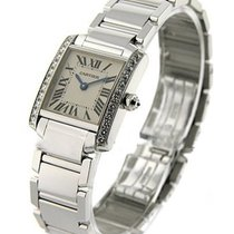 Cartier WE1002S3 Tank Francaise - Small Size - White Gold on...