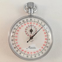 Minerva Stopwatch vintage stop watch red