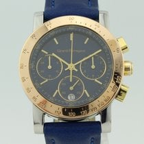 Girard Perregaux Gb 7700 Quartz Chronograph Gold-Steel Blue Dial