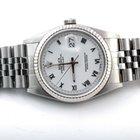 Rolex Mens 16234 Datejust - Factory White Roman Numeral Dial