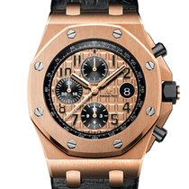 Audemars Piguet ROYAL OAK OFF SHORE ROSE GOLD LEATHER