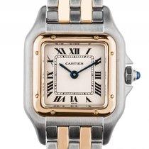 Cartier Phantere PM kleines Modell Stahl Gelbgold  Quarz...