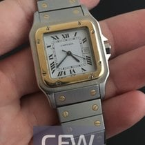 Cartier Santos Galbee gold and steel
