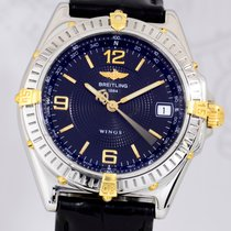 Breitling Windrider Wings Automatik black Dial Stahl Gold...