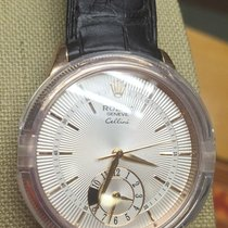 Rolex Cellini 18k Everose Gold Dual Time Auto Strap Watch...