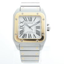 Cartier Santos 100 Steel and Gold W200728G Box and Paper