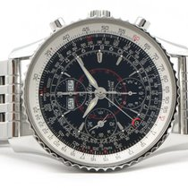 Breitling Montbrilliant Datora A21330 Chronograph Black Dial...