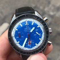 Omega Speedmaster reduced automatico automatic indy cart blue 38
