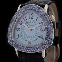 DeLaneau White Gold Starmaster DUAL TIME Sapphire Watch