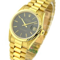 Rolex Used 68278 Mid Size President - Yellow Gold - Black...