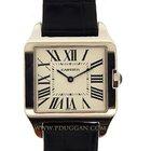 Cartier 18k white gold Santos Dumont