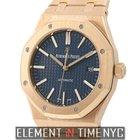Audemars Piguet Royal Oak 41mm 18k Rose Gold Navy Blue Dial...