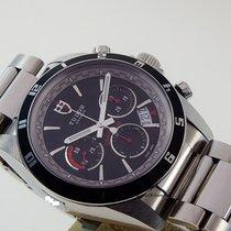 Tudor Grantour Chrono Black dial steel bracelet
