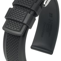 Hirsch Uhrenarmband Accent L schwarz 40478850-2-24 24mm