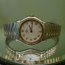 Ebel modern 1990 lady classic sportwave pearl dial gold and...