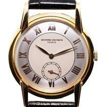 Vacheron Constantin Geneve 18k  Gold Leather Watch