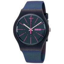 Swatch Archi-mix New Gentleman Blue Dial Silicone Strap...